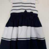 Vestido de listra azul - 24 a 36 meses - Carter`s