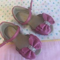 Sandália couro pink - 21 - Não informada