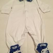 Conjunto Beth Bebê macacão manga longa e jaqueta - Recém Nascido - Beth Bebê