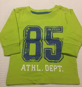 Kit Camisetas manga longa Tommy Hilfiger - 3 a 6 meses - Tommy Hilfiger