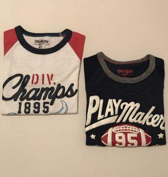 Kit Camisetas - Esportes americanos - 2p - 4 anos - OshKosh