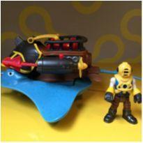 Imaginext Capitão Nemo e Stingray - Mattel -  - Imaginext