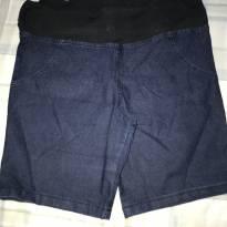 Bermuda Gestante Jeans Azul - GG - 48 em diante - Não informada