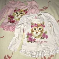 Kit com 2 camisetas de manga comprida! - 3 a 6 meses - Angerô