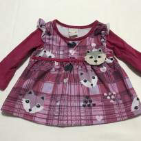 Blusa linda para sua bebê - 6 a 9 meses - Marlan