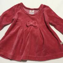 Blusa linda aveludada - 6 meses - Brandili