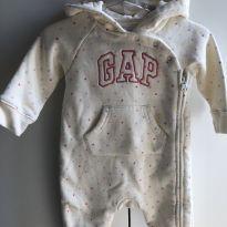 Macacão Moletom GAP - 3 a 6 Meses - 3 a 6 meses - Baby Gap e GAP