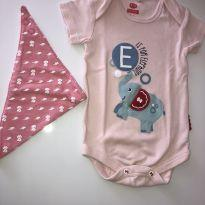 Body Elefantinho Fisher Price - 3 a 6 Meses - 3 a 6 meses - Fisher Price