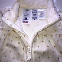 Macacão Fleece Bolinhas Douradas Carter's - 09 Meses - 9 meses - Carter`s