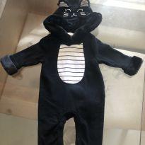 Macacão Gatinho Preto Importado - RN - Recém Nascido - Cat & Jack- EUA e Cat & Jack