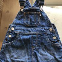 Jardineira jeans Carter's - 9 Meses - 9 meses - Carter`s