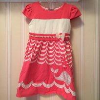 Vestido Pink e Creme - 3 anos - Miss Trm