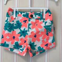 Shorts Floral - 1 ano - Hering Baby