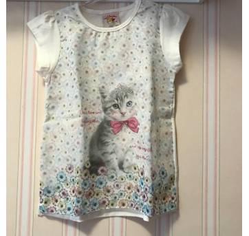 Camiseta Gatinha - Nini & Bambini - 3 anos - Nini e Bambini