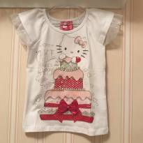 Camiseta Branca Cake Happy - Hello Kitty - 4 anos - Hello  Kitty