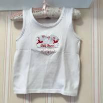 Camiseta Regata baby Look Coração Florido - 3 anos - Baby Classic