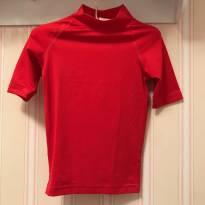 Camiseta de Praia Vermelha com  Proteção Solar - Triboard - 4 anos - Triboard - Decathlon