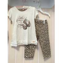 Conjunto Off White Animal Print - Milon - 4 anos - Milon