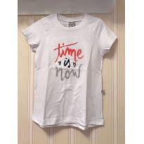 Camiseta Time is now - Hering - 6 anos - Hering Kids