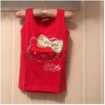 Camiseta Regata Rosa - Hello Kitty - 4 anos - Hello  Kitty
