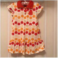 Vestido Gatinha  laranja - 2 anos - Kyly