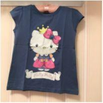 Camiseta Azul - Hello Kitty - 6 anos - Hello  Kitty