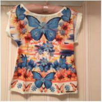 Camiseta Borboleta - 4 anos - Alakazoo!