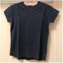 Camiseta Básica Azul - ZARA - 5 anos - Zara