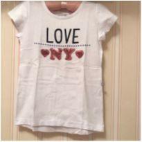 Camiseta Branca Love NY - 4 anos - Hering Kids