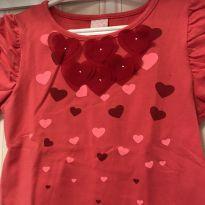 Camiseta Corações - Pois - 3 anos - Poim, Cherokee e Up Baby