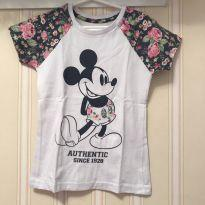 Camiseta Floral Mickey - 4 anos - Disney