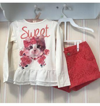 Conjunto Sweet Gatinha - Momi - 3 anos - Momi