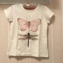 Camiseta Off White Borboleta - 6 anos - Fuzarka