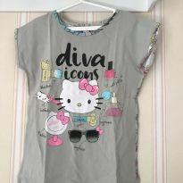 Camiseta Diva Icons - Hello Kitty - 6 anos - Hello  Kitty