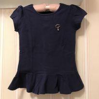 Camiseta Azul Marinho estilo Batinha - Lilica Ripilica - 8 anos - Lilica Ripilica