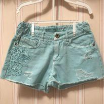 Shorts Jeans Verde água  - ZARA - 7 anos - Zara
