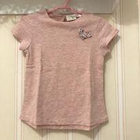 Camiseta Rosa Borboletinha - ZARA - 2 anos - Zara
