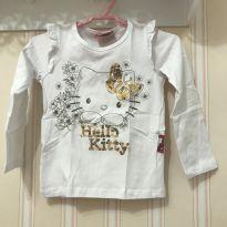 Camiseta Branca Manga Longa Hello Kitty - 2 anos - Hello  Kitty
