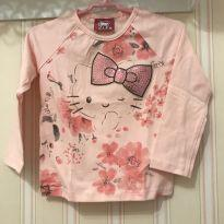 Camiseta Rosa Floral manga Longa Hello Kitty - 3 anos - Hello  Kitty