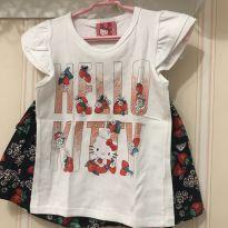 Conjunto Moranguinhos -  Hello Kitty - 4 anos - Hello  Kitty