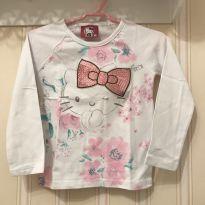 Camiseta Branca Floral Hello Kitty - 3 anos - Hello  Kitty