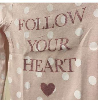 Camiseta Rosa bb com  Poás Follow Your Heart - Carter`s - 3 anos - Carter`s