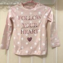 Camiseta Rosa bb com  Poás Follow Your Heart - Carter`s - 3 anos - Carter`s