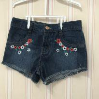 Shorts Jeans Flores - - 8 anos - Hering Kids
