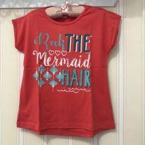 Camiseta Rosa Mermaid - Malwee - 6 anos - Malwee Kids