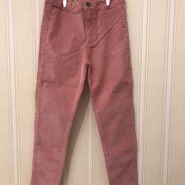 Calça Rosa Antigo em Veludo - ZARA - 7 anos - Zara