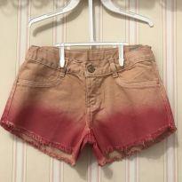 Shorts Jeans Degradê Rosa - 8 anos - Hering Kids