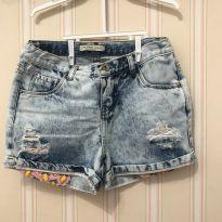 Shorts Jeans Claro Destroied - 8 anos - Palomino