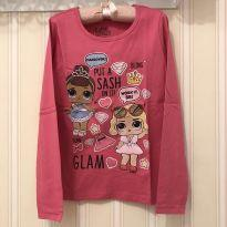 Camiseta Manga Longa LOL Rosa - 7 anos - LOL Surprise
