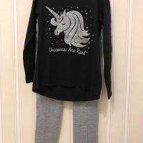 """Conjunto """"Unicorns are Real"""" - 8 anos - Fuzarka"""